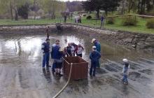 Čištění rybníku 2009